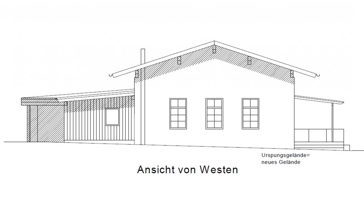 Bürgerhaus - Ansicht von Westen