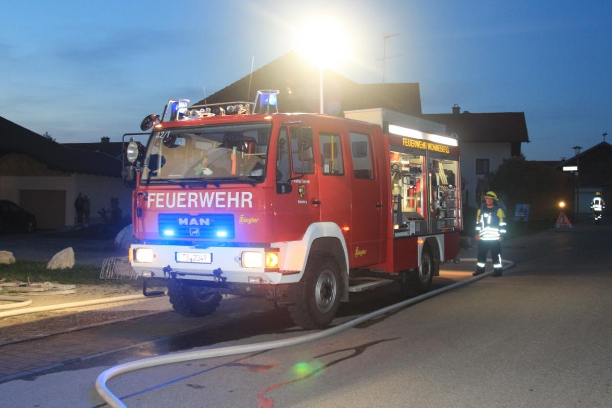 Feuerwehrübung im Jugendhaus St. Leonhard am Wonneberg