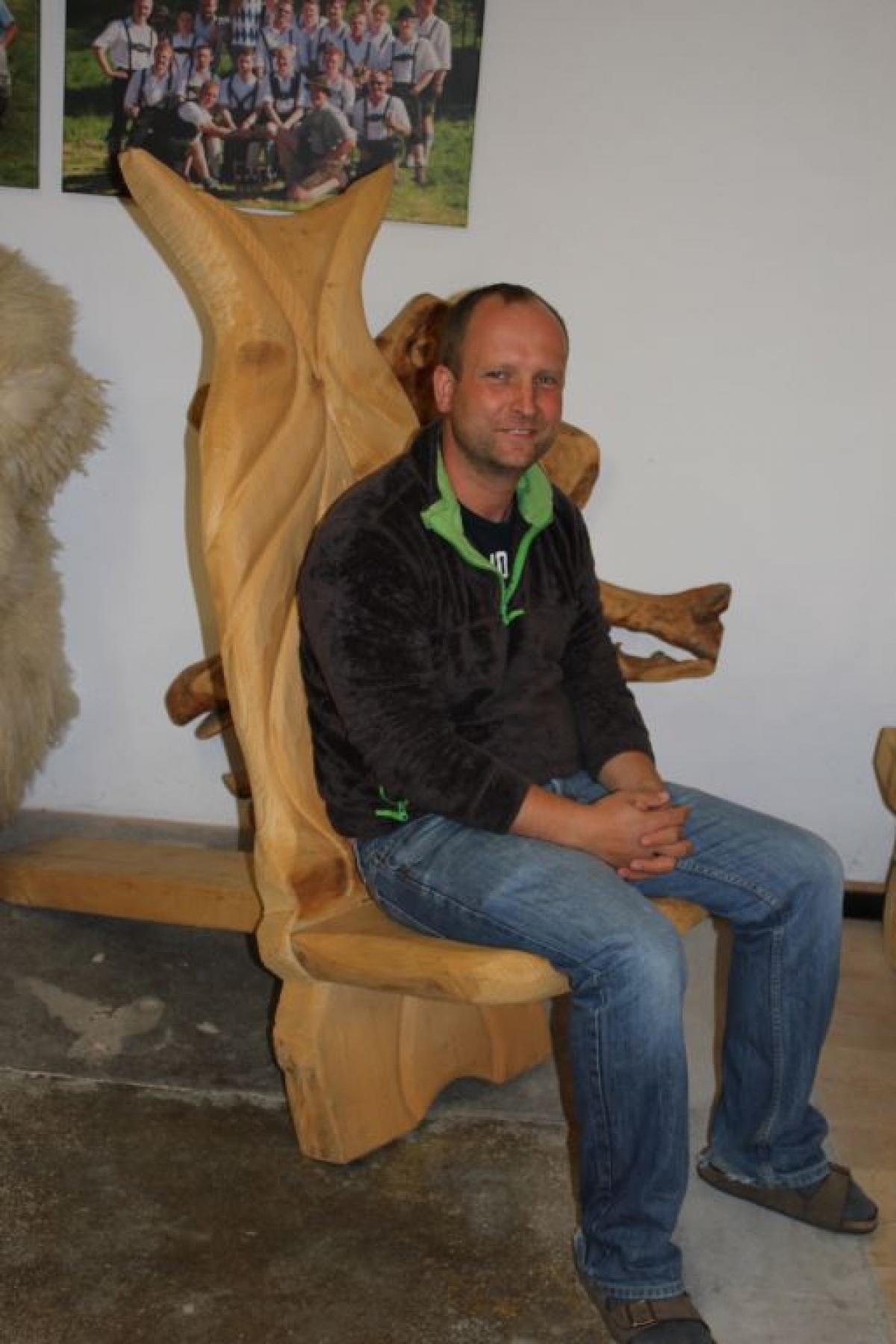 Ein Wikinger-Stuhl – auf lässt sich gut sitzen.